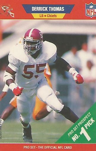 1989 Pro Set #498 Derrick Thomas Rookie
