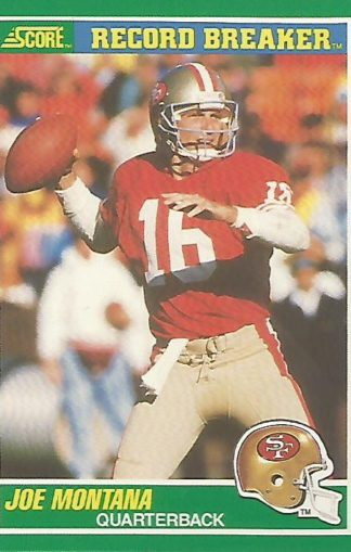 1989 Score #329 Joe Montana Record Breaker