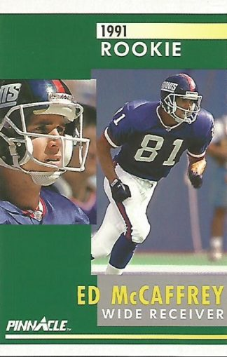 1991 Pinnacle #322 Ed McCaffrey Rookie