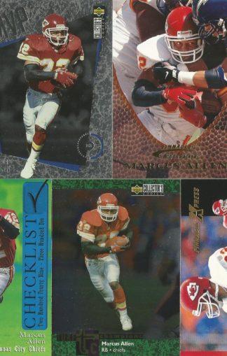 Marcus Allen Cards Lot 5