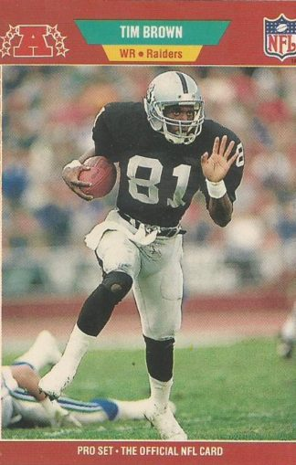 1989 Pro Set #183 Tim Brown Rookie