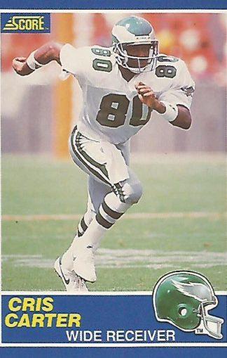 1989 Score #072 Cris Carter Rookie
