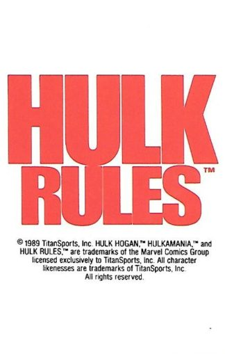 1990 Classic WWF #145 Hulk Hogan