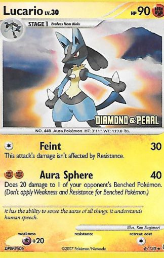 2007 Pokemon Diamond and Pearl Reverse Foil #006 Lucario
