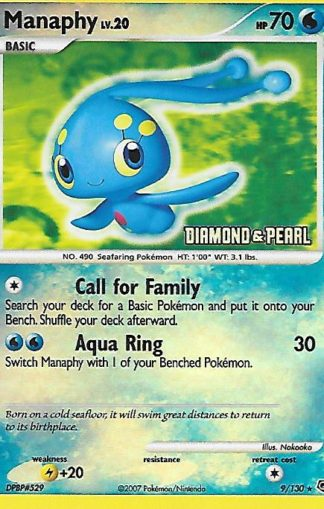 2007 Pokemon Diamond and Pearl Reverse Foil #009 Manaphy