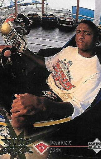1997 Upper Deck #011 Warrick Dunn Rookie