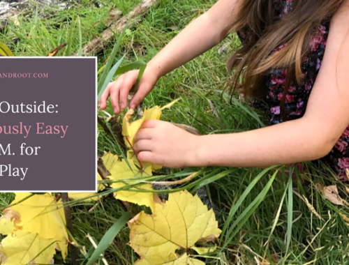 Take it outside: ridiculously easy steam for nature play