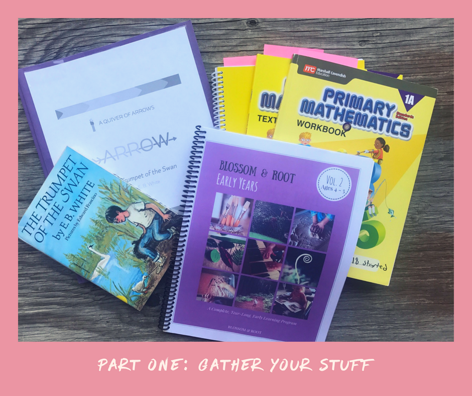 homeschool planning minimalist