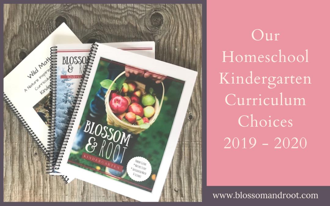 homeschool kindergarten curriculum choices