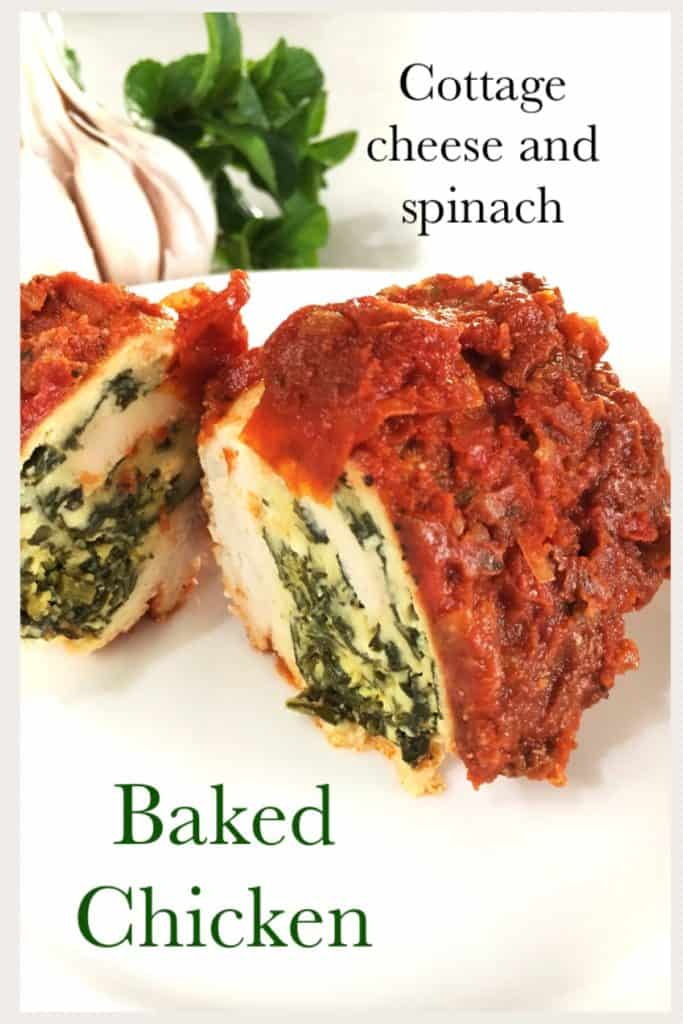 Cottage cheese and spinach baked chicken-Everyday Wits