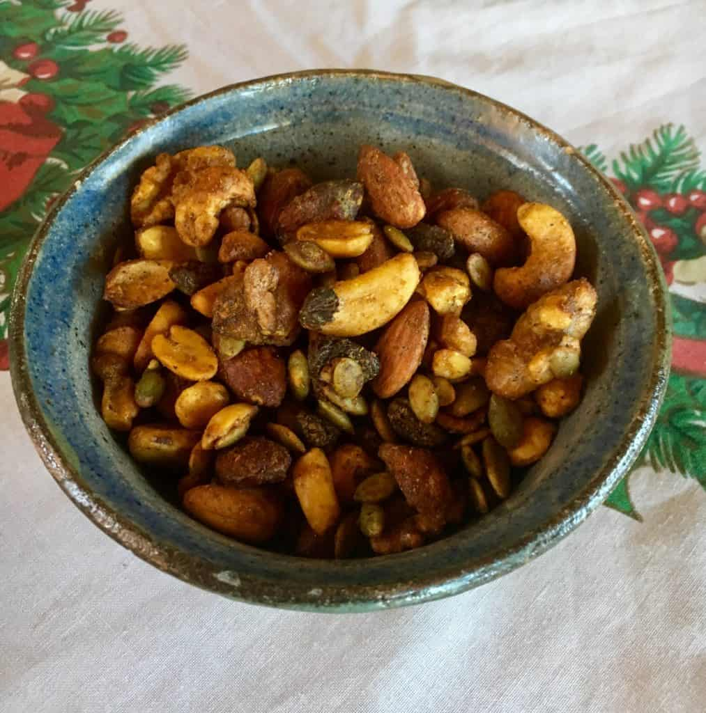 Honey roasted spiced nuts