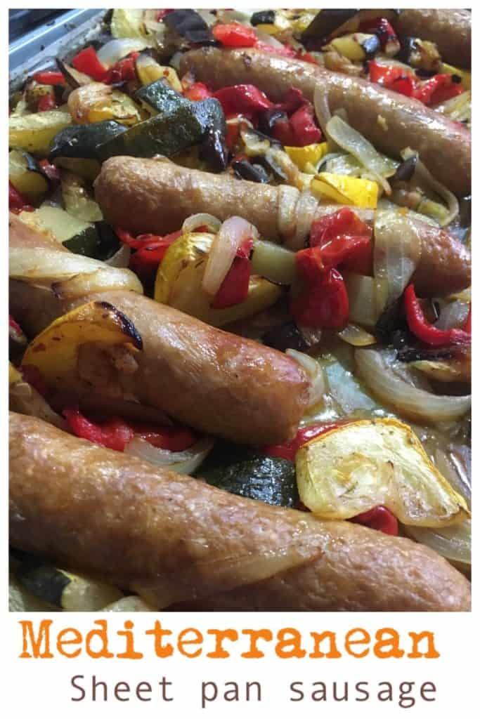Mediterranean sheet pan sausages