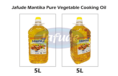 Jafude Mantika Pure Vegetable Cooking Oil-5L-2 angle-Crude Palm Oil Supplier in Philippines