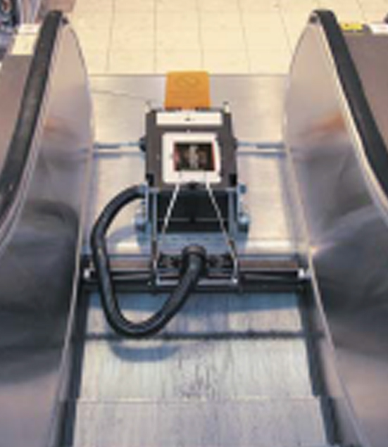 treadmaster escalator cleaner from top