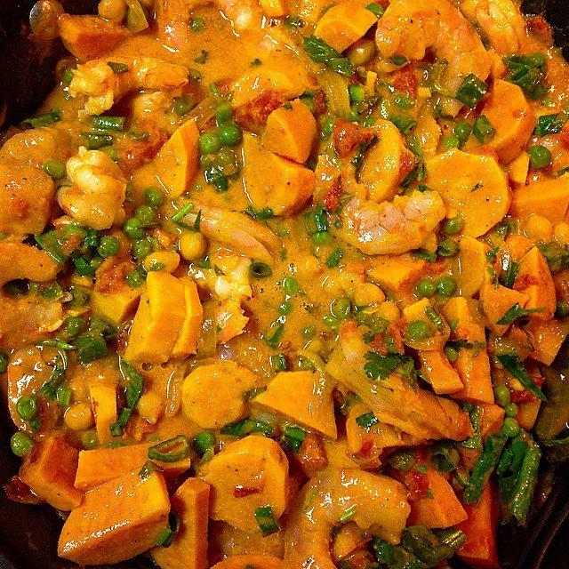 Sweet Potato and Shrimp Curry