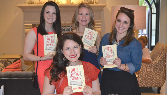 Author Jenny Bravo hosted a book signing for her new novel, These are the Moments, at the Southern Hotel.