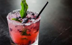Blueberry Basil Martini