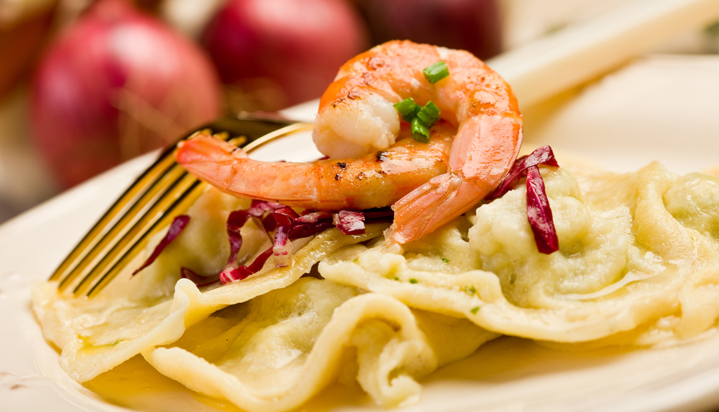 Shrimp and Ravioli