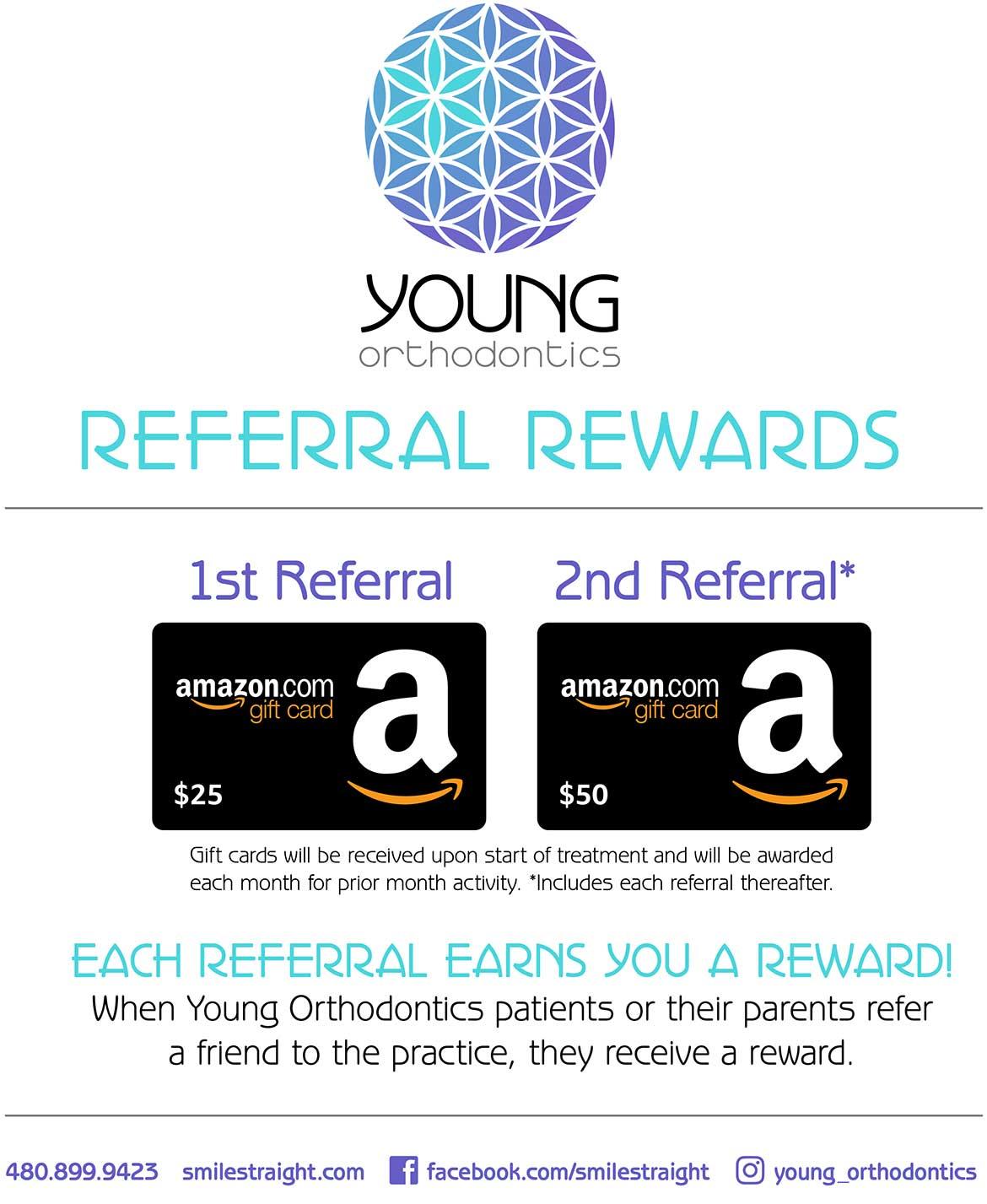 Young Orthodontics Referral Rewards