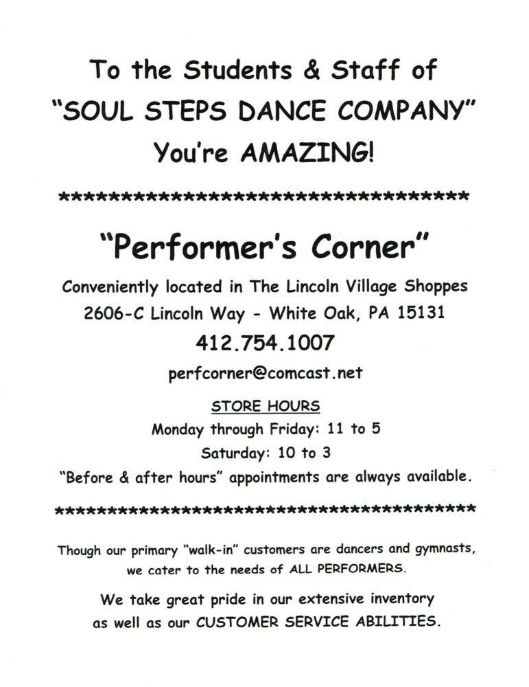 Performer's Corner