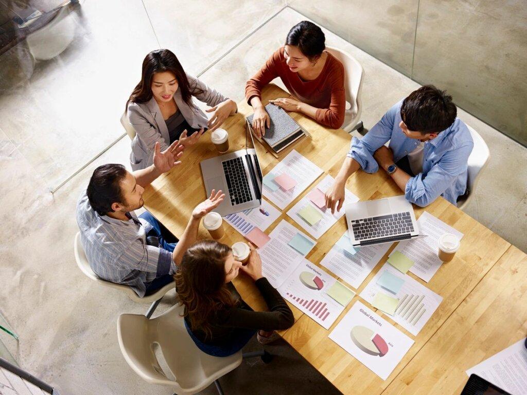 Marketing team photo on Techfullypro.com.
