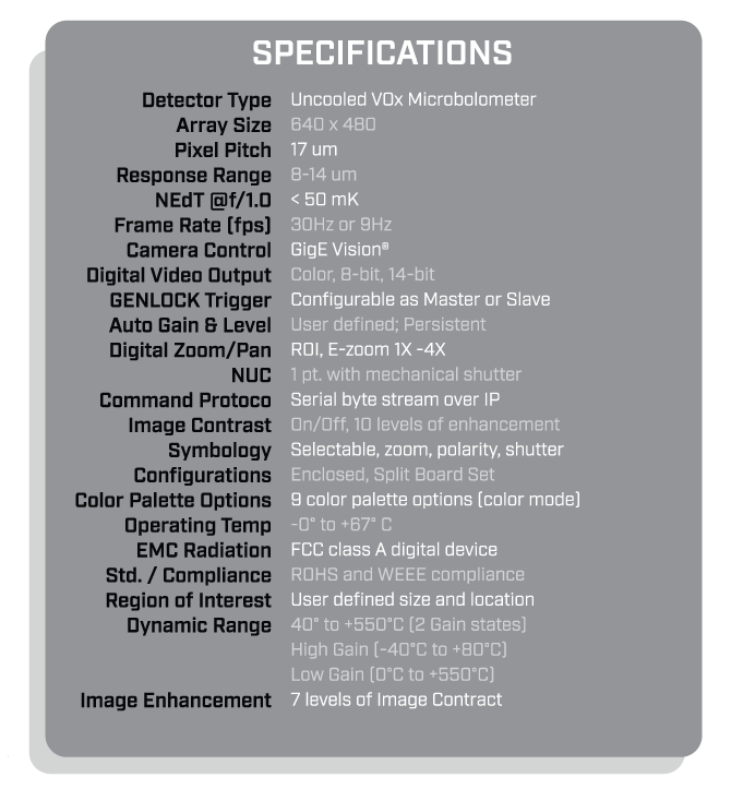 MFE Elevetad Body Temperature Thermal Scanner Specifications