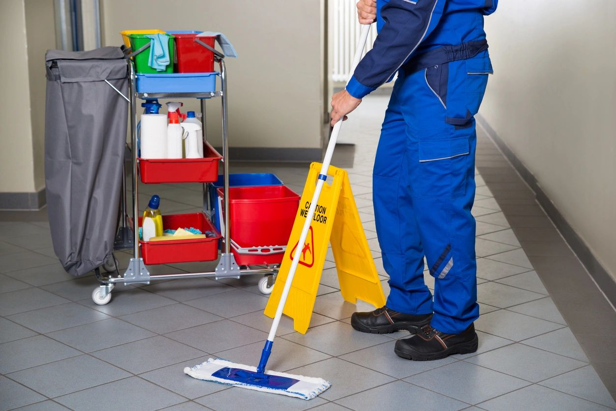 Janitorial services relate to commercial property cleaning, including professional offices, educational, medical and industrial business cleaning. Some commercial janitorial services can include maintenance or property management services.