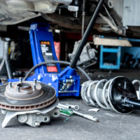 Check brake system and car suspension.