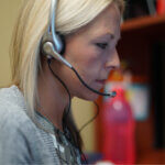 woman on call blonde nurse advice line and rn jobs company