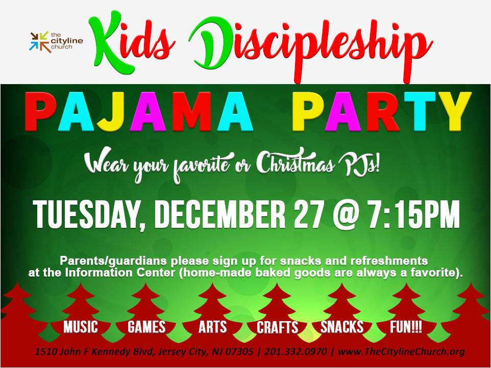Kids Pajamas Party We Are The Cityline Church