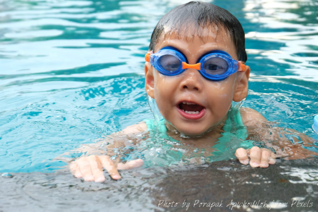 boy swimming in sherwood park