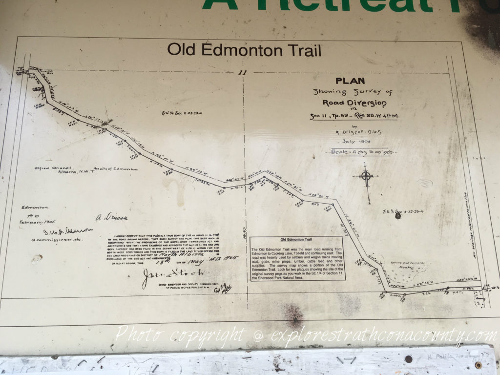 Old Edmonton Trail Map Sherwood Park Natural Area