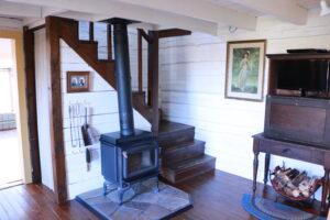 Old historic metis log house