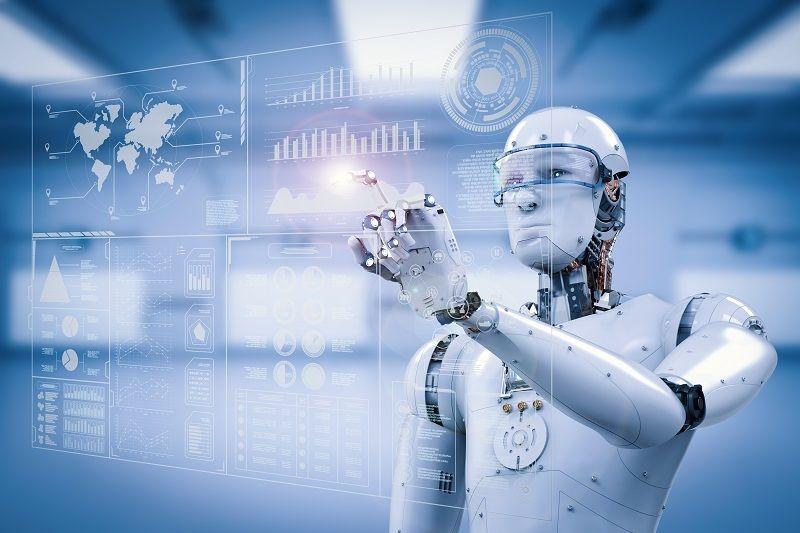Comp robot working with digital display