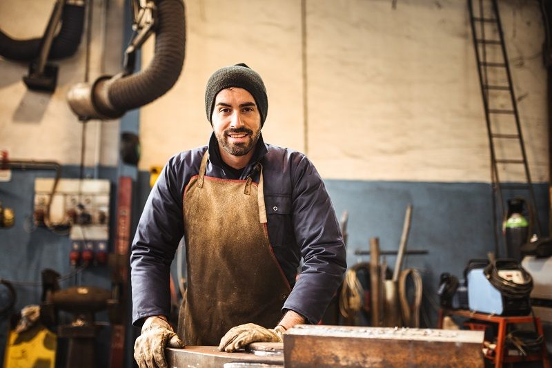 manual worker on a workshop cm