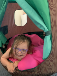 Sensory spaces girl in tent