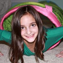 sensory room girl in tunnel