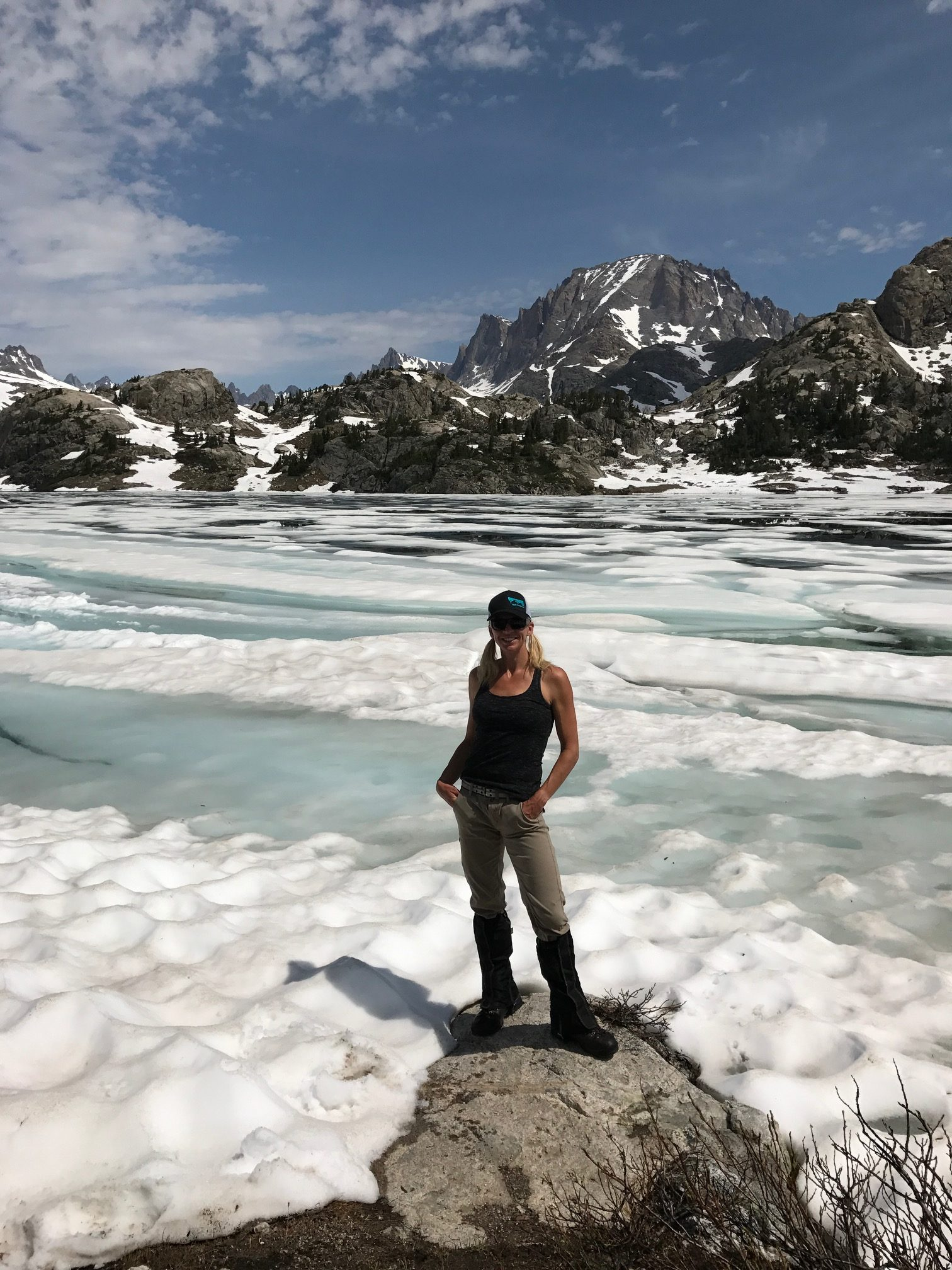 Backpacking and fast packing-wind River range in Wyoming