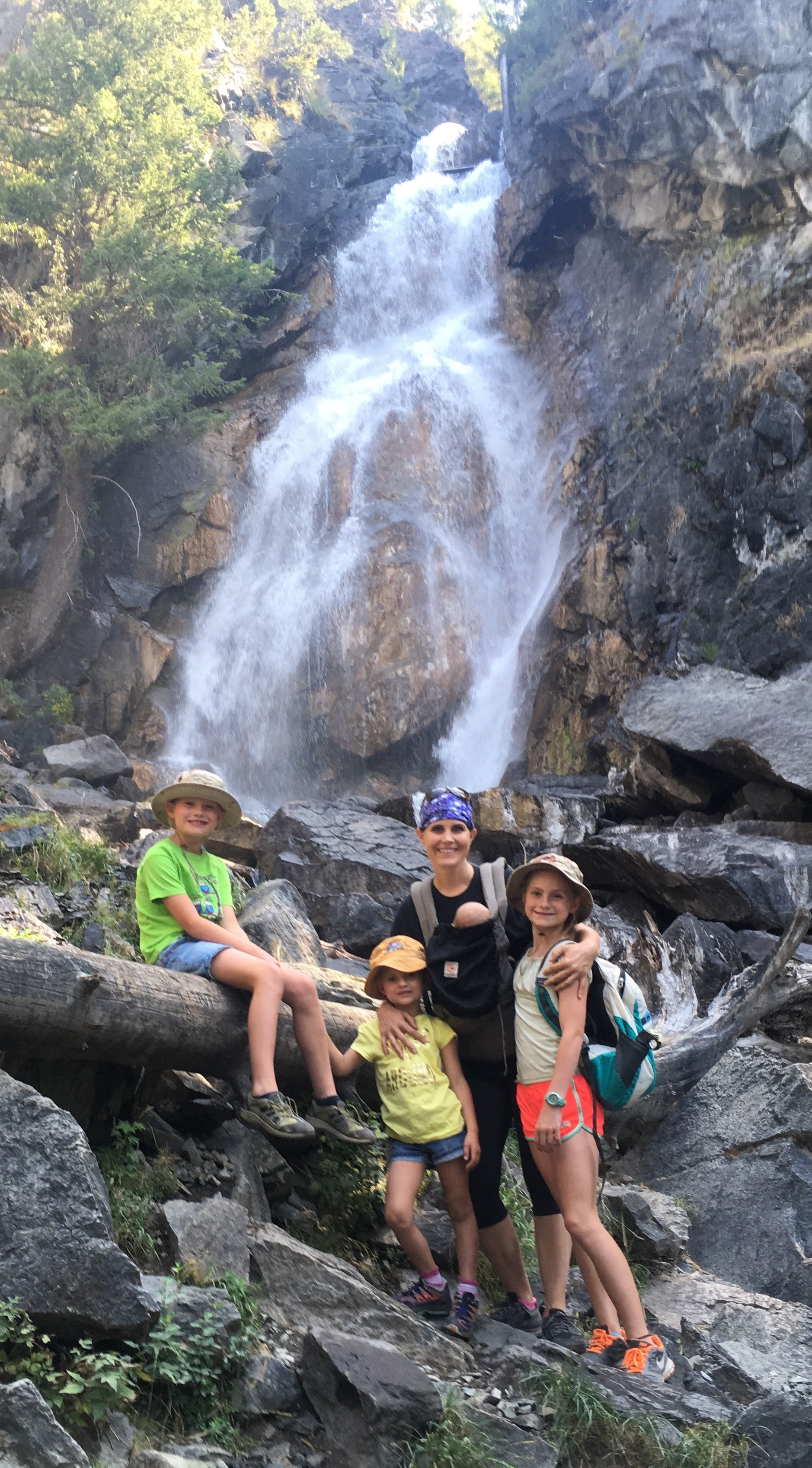 Our first family hike after Gia was born Holland Lake Falls