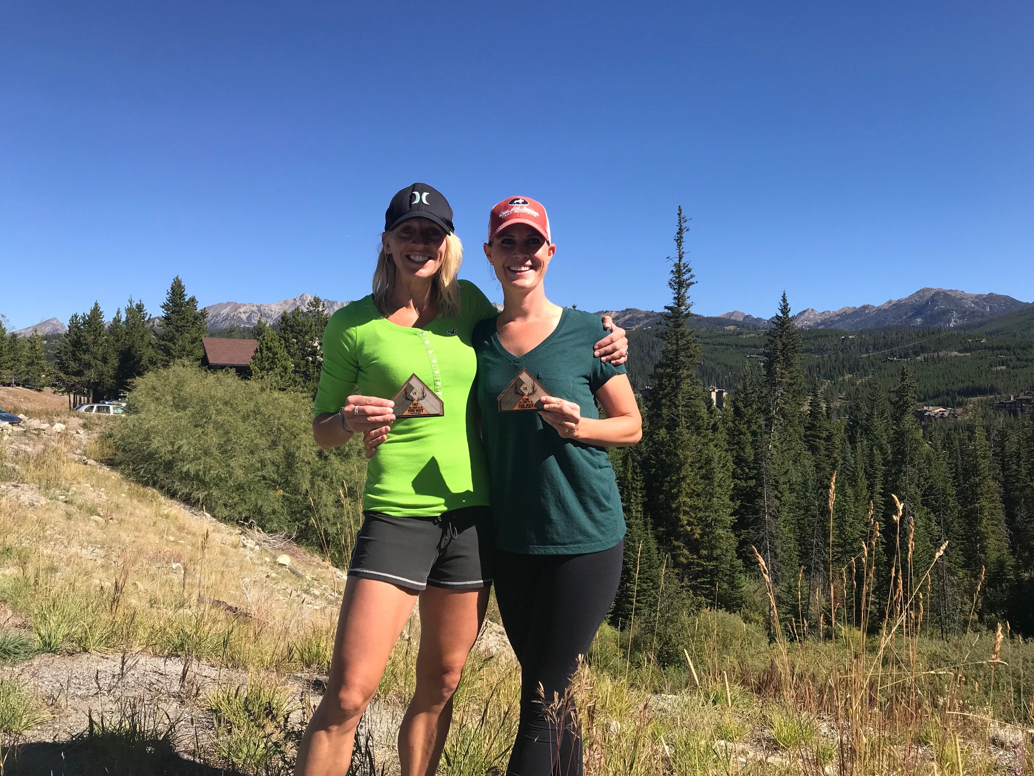 The Rut Race 2018 with Jamie...both first in our age group in our respective races, VK and 11k