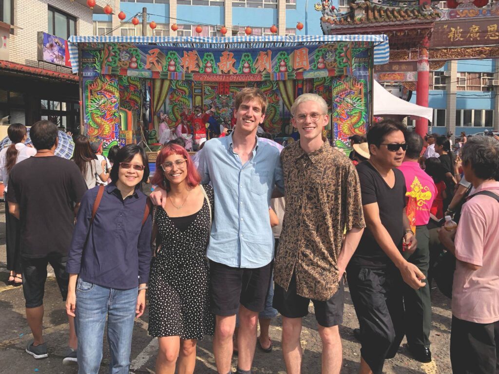 Amy, Michelle, Peter and Taylor at Mazu festival.