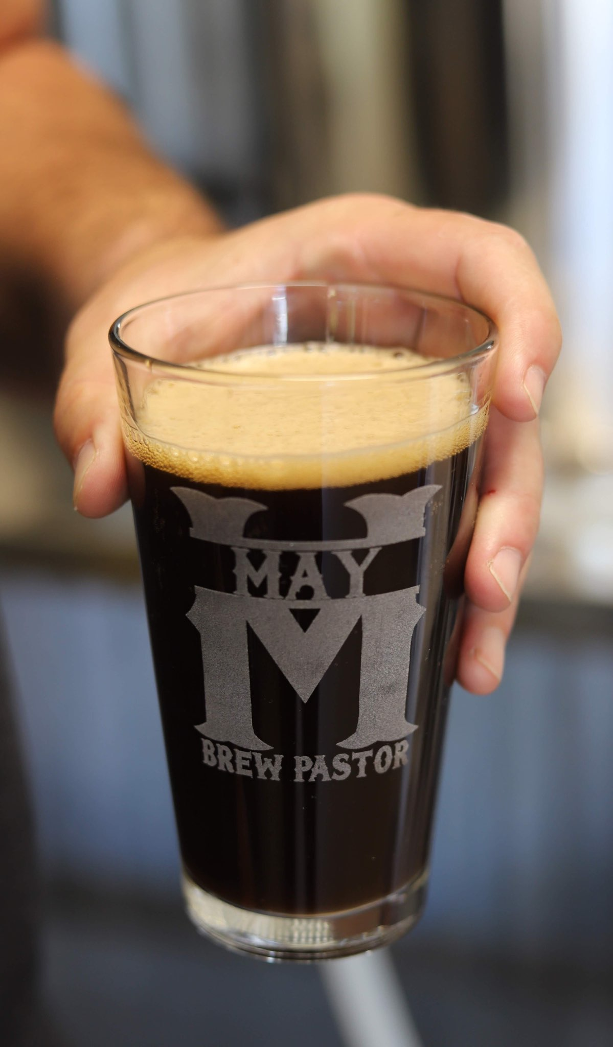 May Brew Pastor glass
