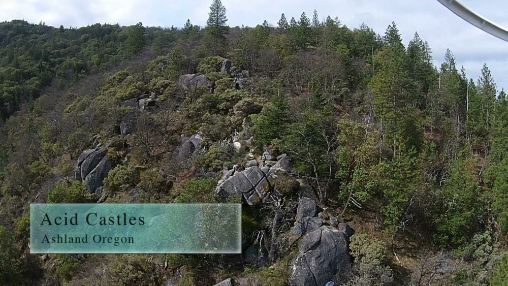 The Acid Castles hike provides some of the best views of Ashland and surrounding valley