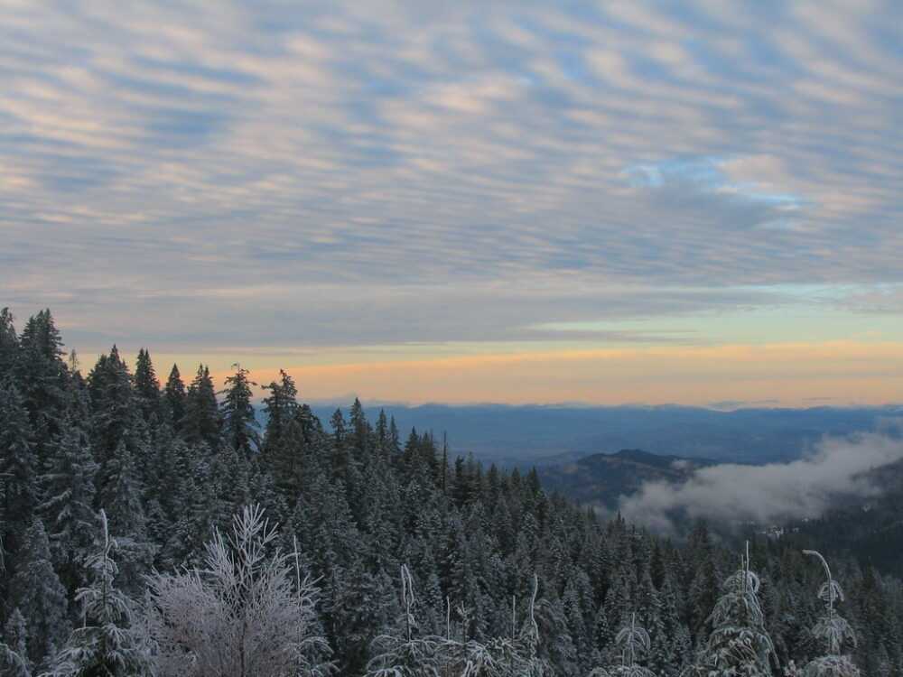 Views from the top of Grizzly Peak in Ashland during the winter months