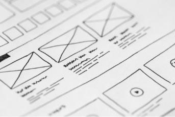 UX design wireframe