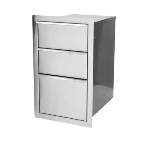 Dragon Fire Triple Drawer Built-In Component