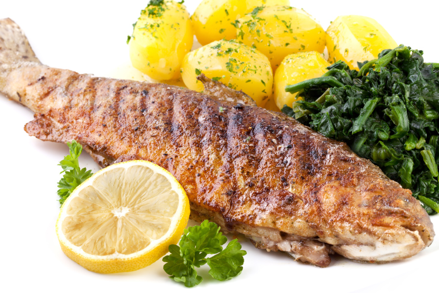 Trout with Lemon Butter