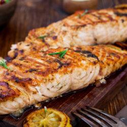Vermouth Salmon Steaks