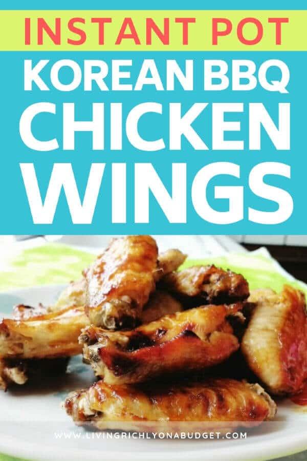 Instant Pot Korean BBQ Chicken Wings