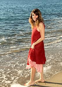 Lisa Najjar at the beach